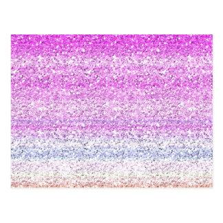 色スペクトルの輝きの効果 ポストカード
