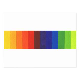 色スペクトル ポストカード