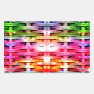 色ネットワーク 長方形シール