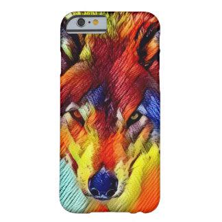 色ヤーンのオオカミの抽象芸術の野性生物のiPhone 6/6sの場合 Barely There iPhone 6 ケース