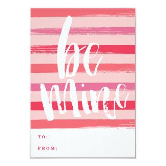 色彩の鮮やかでストライプな教室のバレンタインデーカード 8.9 X 12.7 インビテーションカード