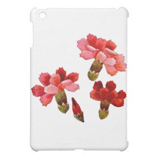 色彩の鮮やかで赤い及びピンクのカーネーション iPad MINIカバー
