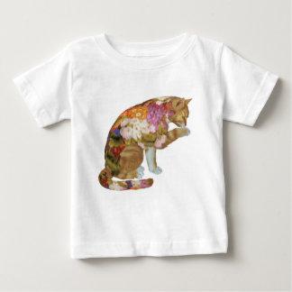 色彩の鮮やかで黄色い子猫猫 ベビーTシャツ