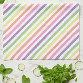 色彩の鮮やかなくものミイラのためにストライプのな台所タオル- キッチンタオル