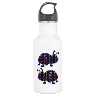 色彩の鮮やかなてんとう虫の虫の子供のnavinJOSHI NVN106 FUに直面して下さい ウォーターボトル