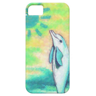 色彩の鮮やかなイルカ iPhone SE/5/5s ケース