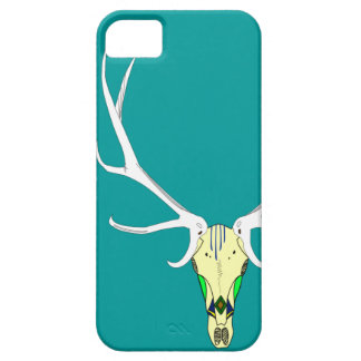 色彩の鮮やかなオオシカのスカル iPhone SE/5/5s ケース