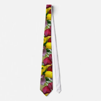 色彩の鮮やかなオランダのチューリップ ネクタイ