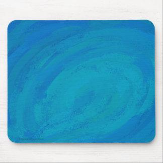 色彩の鮮やかなオーシャンブルー マウスパッド