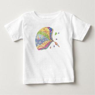 色彩の鮮やかなキルト ベビーTシャツ