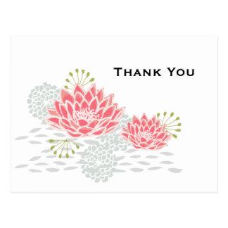 色彩の鮮やかなスイレン-郵便はがきありがとう ポストカード