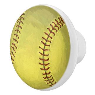 色彩の鮮やかなソフトボールの芸術 セラミックノブ