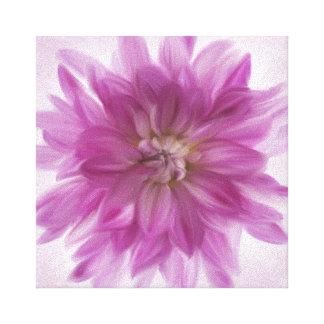 色彩の鮮やかなダリアの芸術-明るい赤紫色 キャンバスプリント