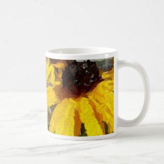 色彩の鮮やかなデイジー コーヒーマグカップ