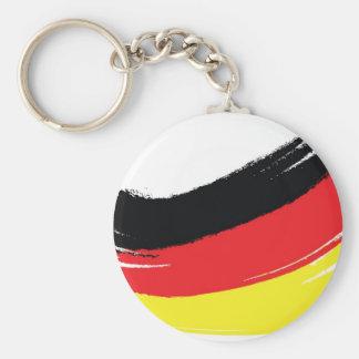 色彩の鮮やかなドイツの旗 ベーシック丸型缶キーホルダー
