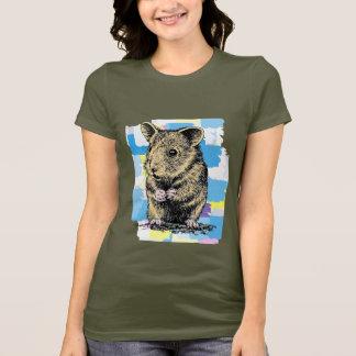 色彩の鮮やかなハムスター Tシャツ