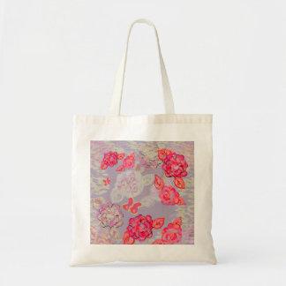 色彩の鮮やかなバラのグラフィックのトート トートバッグ