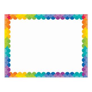 色彩の鮮やかなパレットの虹の帆立貝 ポストカード
