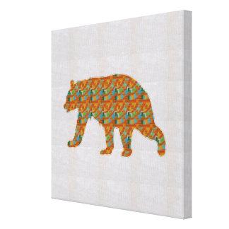 色彩の鮮やかなヒグマの野生のおもしろいのnavinJOSHI NVN158に直面して下さい キャンバスプリント