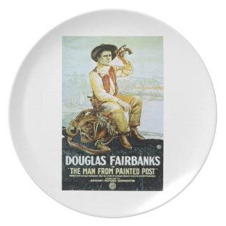 色彩の鮮やかなポスト1917のフィルムからのダグラスフェアバンクスの人 プレート