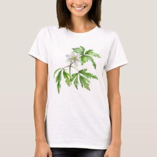 色彩の鮮やかなヤブイチゲの芸術のTシャツ Tシャツ
