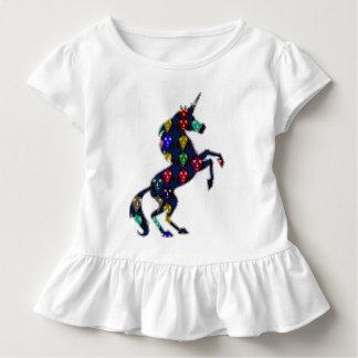 色彩の鮮やかなユニコーンの馬のおとぎ話のファッションの買物をすること トドラーTシャツ