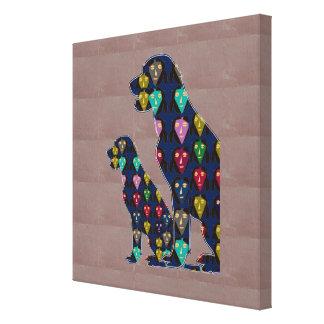 色彩の鮮やかなラブラドール犬ペットfuのnavinJOSHI NVN155に直面して下さい キャンバスプリント