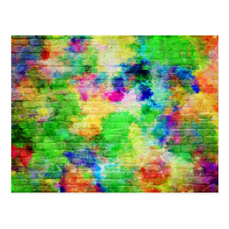 色彩の鮮やかなレンガ壁 ポストカード