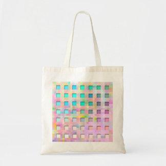 色彩の鮮やかなワッフル トートバッグ
