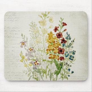 色彩の鮮やかなヴィンテージの花の花束の原稿6 マウスパッド
