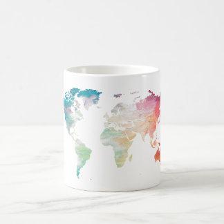 色彩の鮮やかな世界地図 コーヒーマグカップ