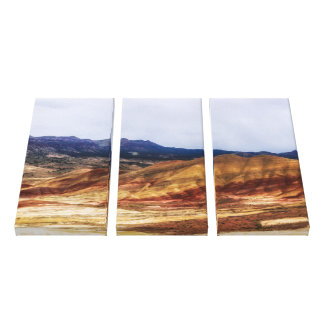 色彩の鮮やかな丘 キャンバスプリント