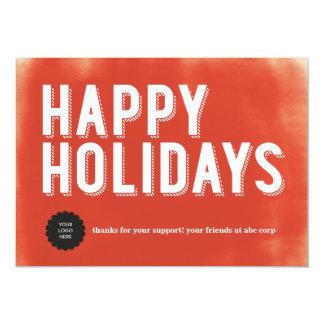 色彩の鮮やかな休日の赤い平たい箱 カード