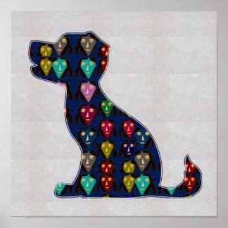 色彩の鮮やかな初恋犬ペットNavinJOSHI NVN127に直面して下さい ポスター