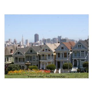 色彩の鮮やかな女性、サンフランシスコ ポストカード