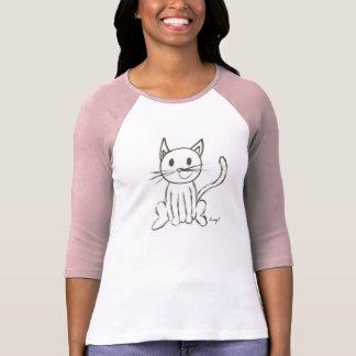 色彩の鮮やかな子猫レディースRaglanのTシャツ Tシャツ