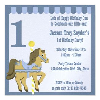 色彩の鮮やかな子馬の誕生日 カード