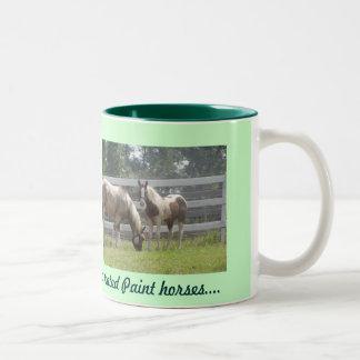色彩の鮮やかな子馬 ツートーンマグカップ