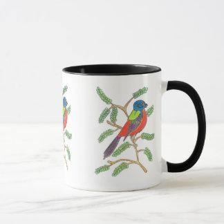 色彩の鮮やかな旗布 マグカップ