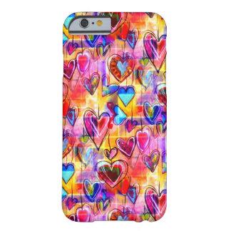 色彩の鮮やかな春のハート BARELY THERE iPhone 6 ケース