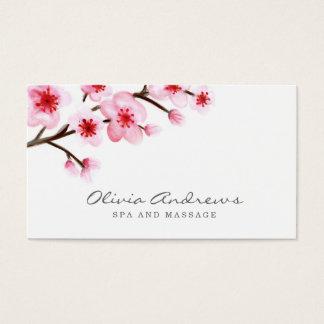 色彩の鮮やかな桜の名刺 名刺