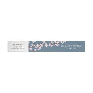 色彩の鮮やかな桜の覆いのステッカー ラップアラウンド宛名ラベル