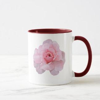 色彩の鮮やかな淡いピンクのばら色のマグ マグカップ