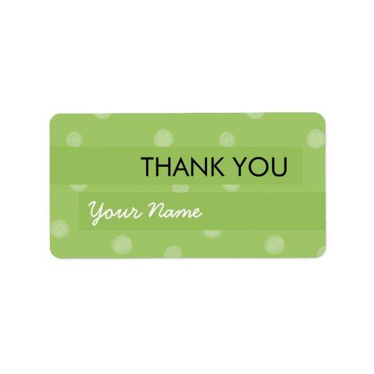 色彩の鮮やかな点の緑はステッカー感謝していしています 宛名ラベル