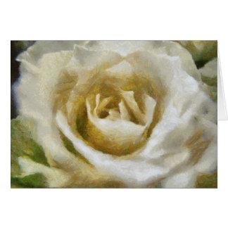 色彩の鮮やかな白いバラの挨拶状 カード