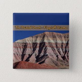 色彩の鮮やかな砂漠のFlagstaffアリゾナ 5.1cm 正方形バッジ