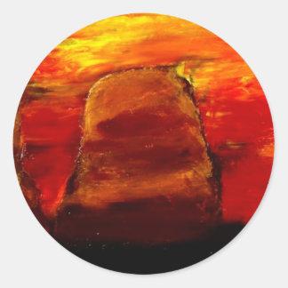 色彩の鮮やかな砂漠 ラウンドシール
