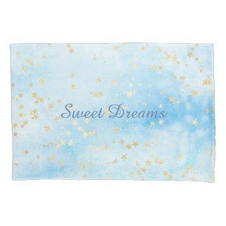色彩の鮮やかな空の空の金ゴールドの恒星雲の甘美な夢 枕カバー