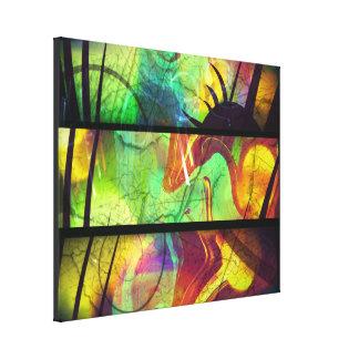 色彩の鮮やかな窓ガラスの抽象的なキャンバスプリント キャンバスプリント