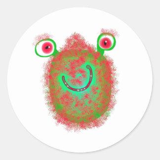 色彩の鮮やかな細菌 ラウンドシール